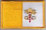 Vatican City Embroidered Flag Patch, style 08.